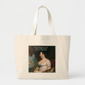 Dolly Madison & Famous Where I'll Be Quote Large Tote Bag