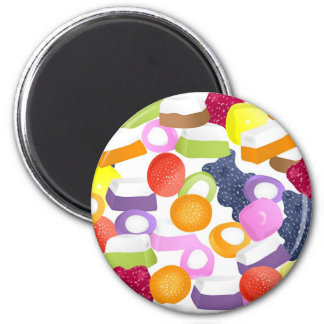 Dolly Mixtures 2 Inch Round Magnet
