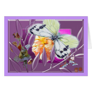 Dolly with butterfly card