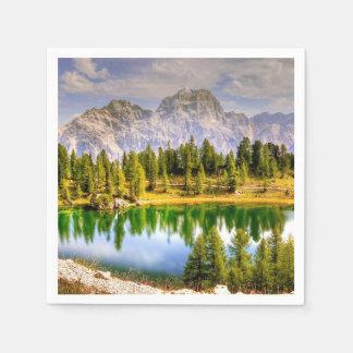 Dolomite Mountains Italy Disposable Napkin