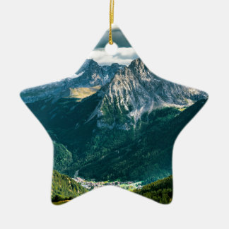 Dolomites alps,Italy Ceramic Ornament