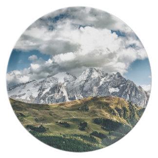 Dolomites alps, Italy Plate