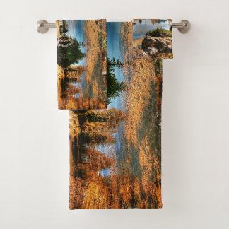 Dolomites mountains, italy bath towel set