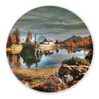 Dolomites mountains, italy ceramic knob
