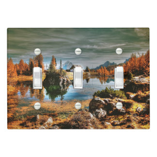 Dolomites mountains, italy light switch cover