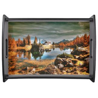 Dolomites mountains, italy serving tray
