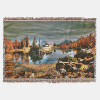 Dolomites mountains, italy throw blanket