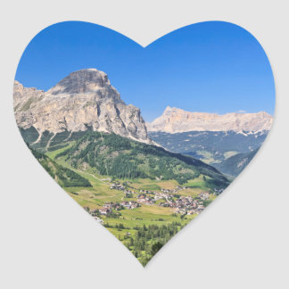 Dolomiti - Val Badia Heart Sticker
