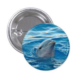Dolphin 1 Inch Round Button