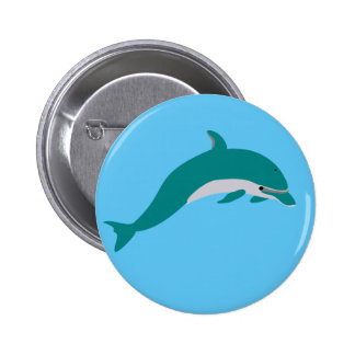 Dolphin 2 Inch Round Button
