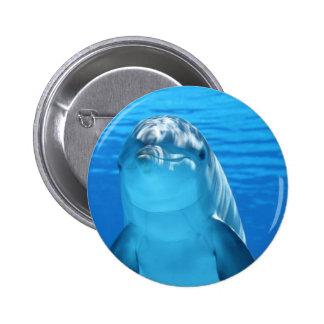 Dolphin 2 Inch Round Button