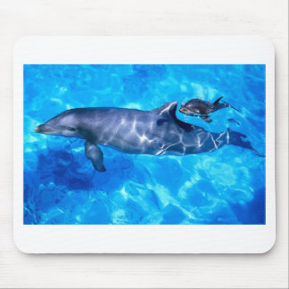 Dolphin and Baby Mouse Pad