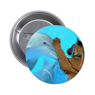 Dolphin and Tiger meet Pinback Button