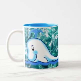 Dolphin and Whale Colorful Mug