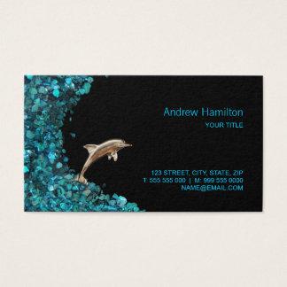 Dolphin Aqua Paua Shell business card