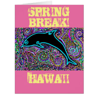 Dolphin Art Design Card