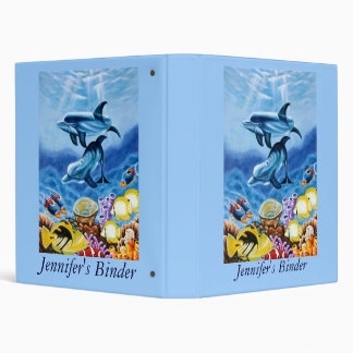 Dolphin Art Personalized School or Keepsake Binder