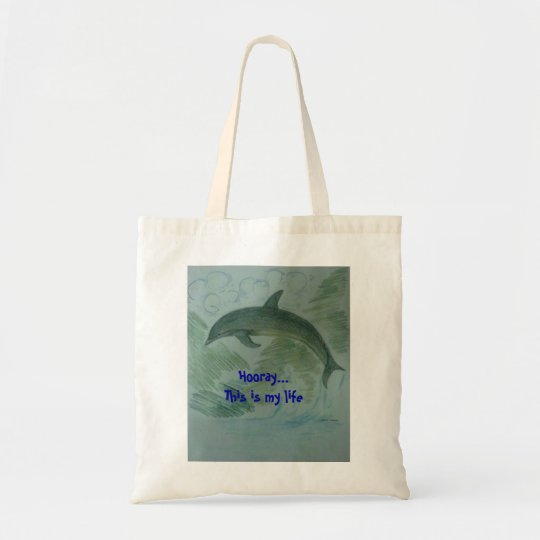 Dolphin at her place tote bag