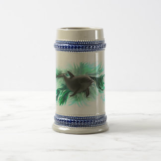 Dolphin baby beer stein