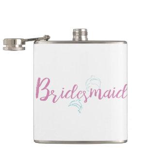 Dolphin Beach Bridesmaid Hip Flask