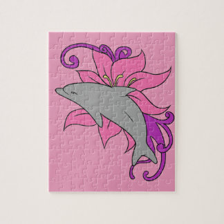 Dolphin Beside a Lily Jigsaw Puzzle