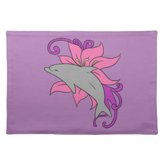 Dolphin Beside a Lily Placemat