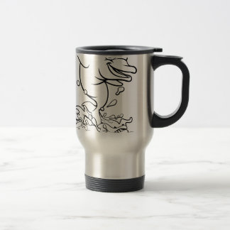 Dolphin Cartoon Character Splashing Travel Mug