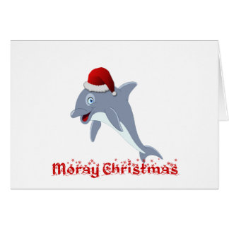 Dolphin Christmas Card