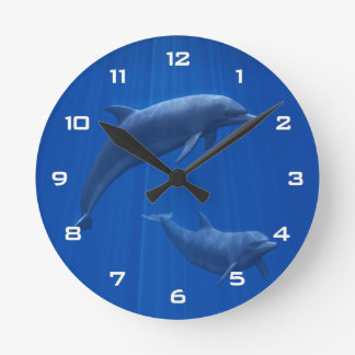Dolphin Couple Wall Clock
