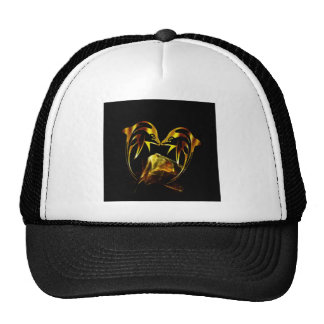 Dolphin crystal love trucker hat