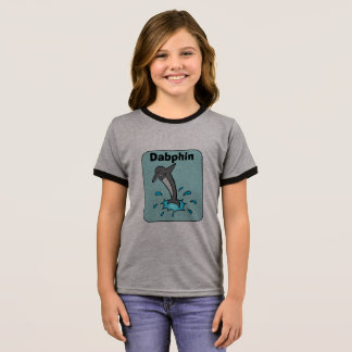 Dolphin Dab Ringer T-Shirt