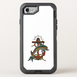 dolphin design OtterBox defender iPhone 8/7 case