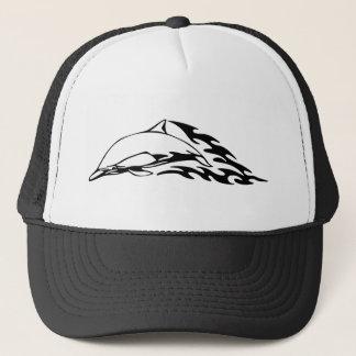 Dolphin designs trucker hat