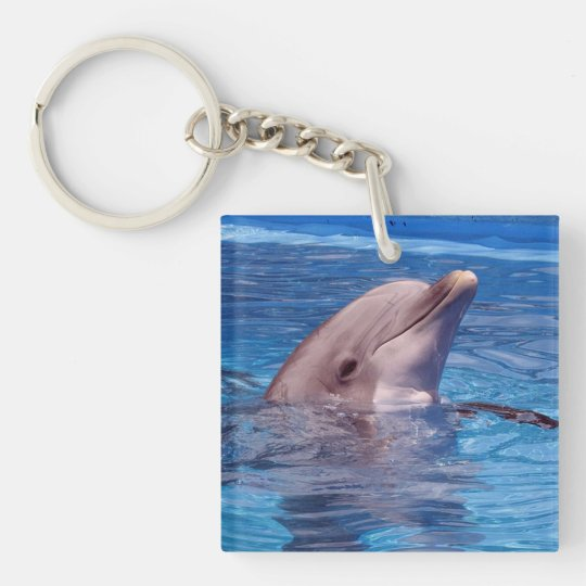 dolphin Double-Sided square acrylic keychain