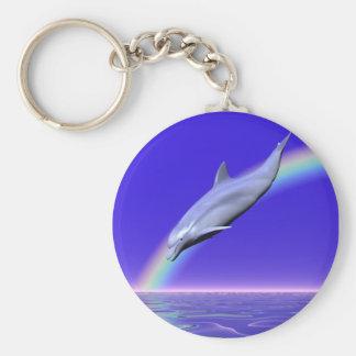 Dolphin Download Basic Round Button Keychain