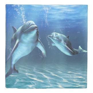 Dolphin Dream (1 side) Queen Duvet Cover