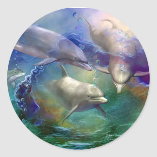 Dolphin Dream Art Sticker