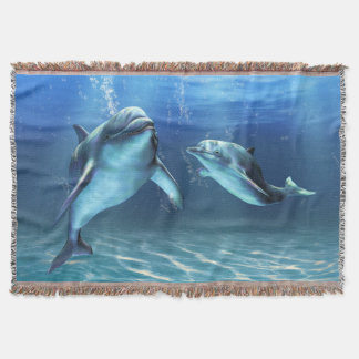 Dolphin Dream Woven Throw Blanket