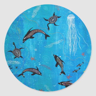 Dolphin Dreaming Classic Round Sticker