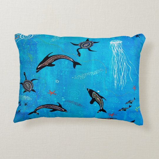 Dolphin Dreaming Pillow