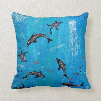 Dolphin Dreaming Pillow/Cushion Throw Pillow