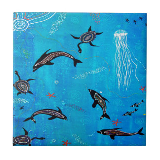 Dolphin Dreaming Tile