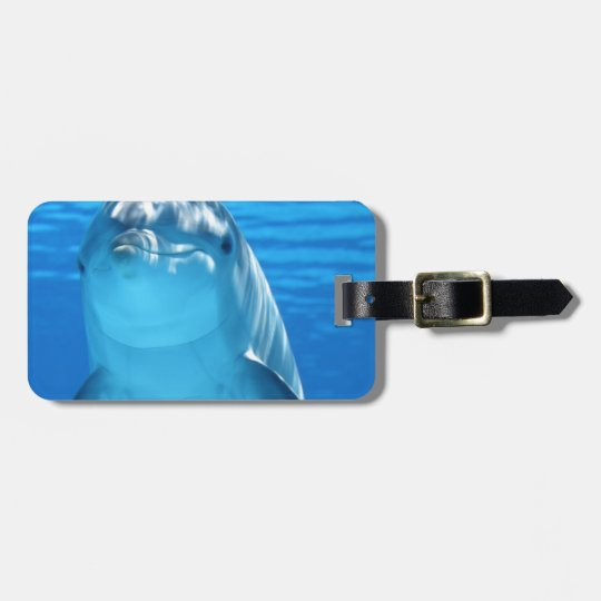 Dolphin Fish Animal Tropical Office Shower Party Luggage Tag