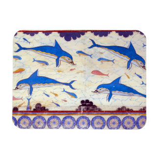 Dolphin Fresco from the Minoan Palace of Knossos Rectangular Photo Magnet
