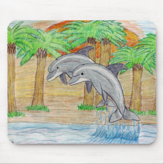 dolphin friends mouse pad