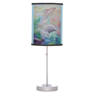 Dolphin friendship table lamp