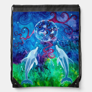 Dolphin Gaze Drawstring Backpack
