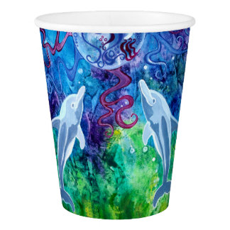 Dolphin Gaze Paper Cups