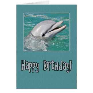 Dolphin Happy Birthday Swimming in Water Card