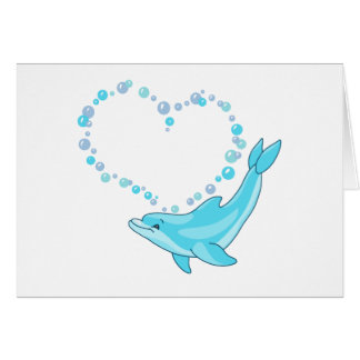 Dolphin Heart Note Card